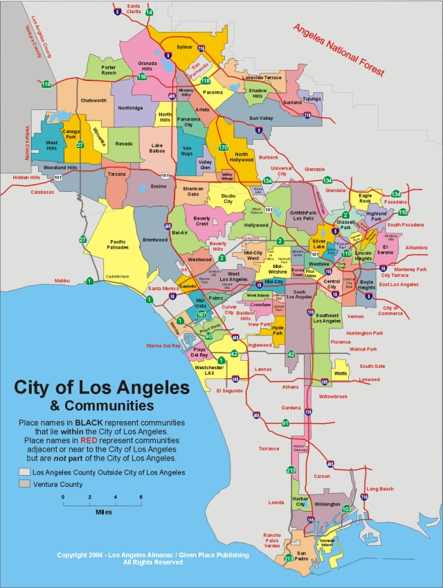 Map Of City Of Los Angeles Los Angeles City Rent Control Map